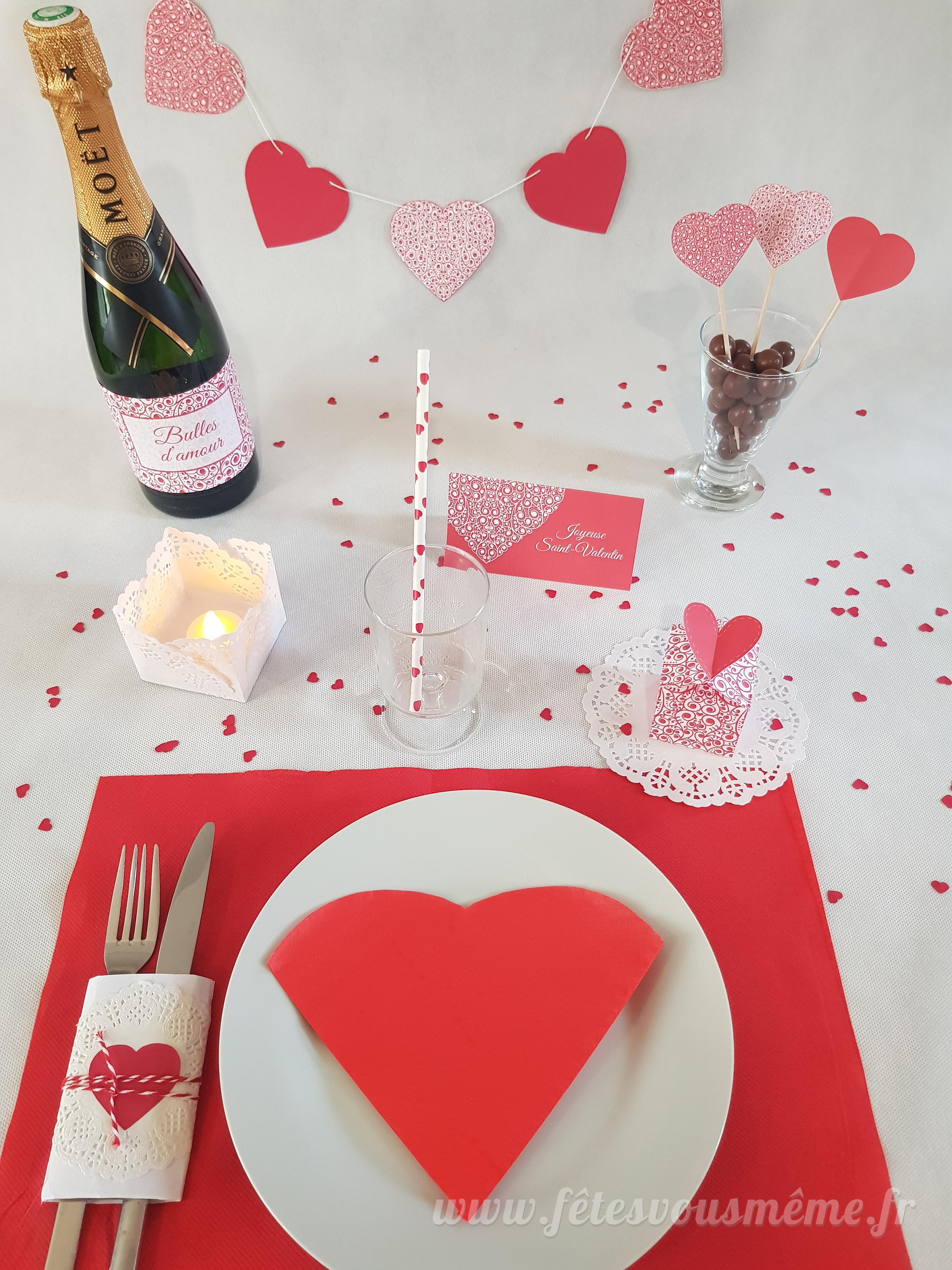 Décoration De Table Saint Valentin Diy Porte Couverts Et Pot