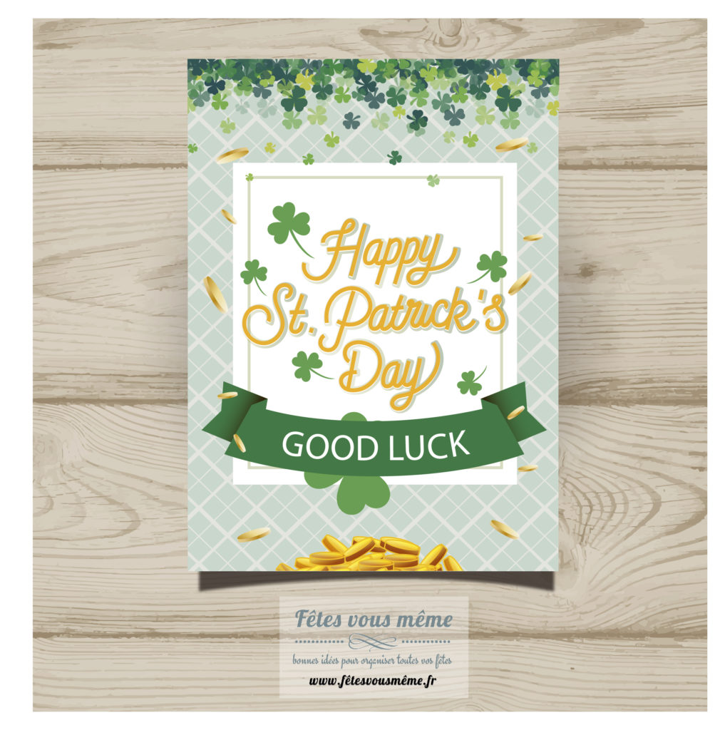 Carte Good Luck - St Patrick