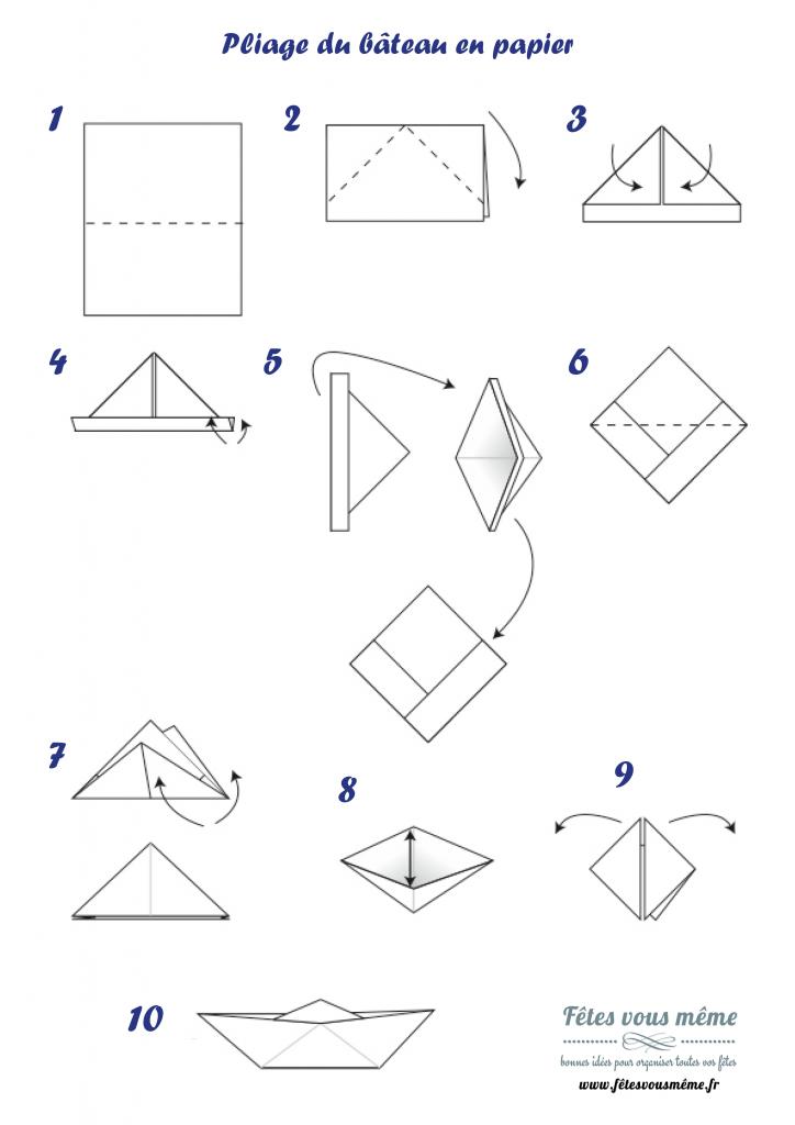 origami bateau diy f tes vous m me. Black Bedroom Furniture Sets. Home Design Ideas