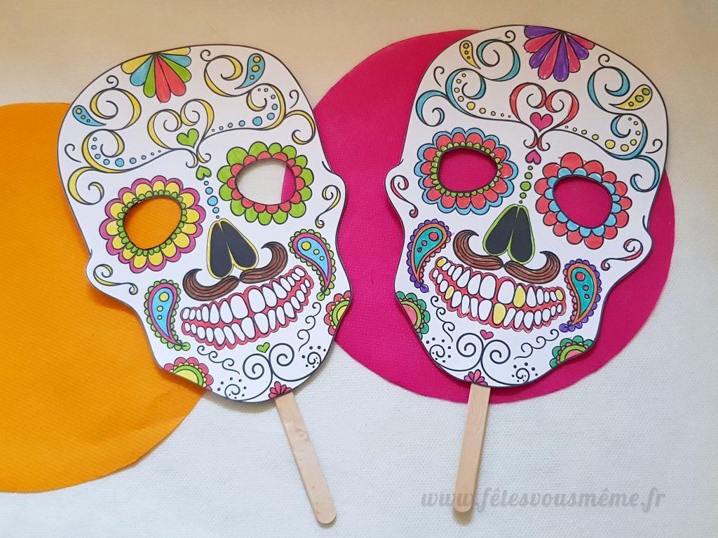DIY Masque Calavera à colorier - Fêtes vous même
