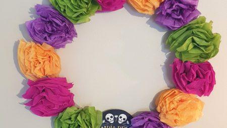 Couronne de Fleurs en papier DIY – El dia de los muertos