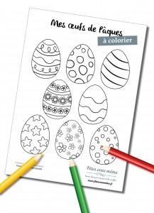 Oeufs de paques à colorier