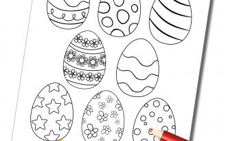 Oeufs de pâques à colorier - Fêtes vous même
